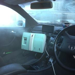 車内の抗菌施工